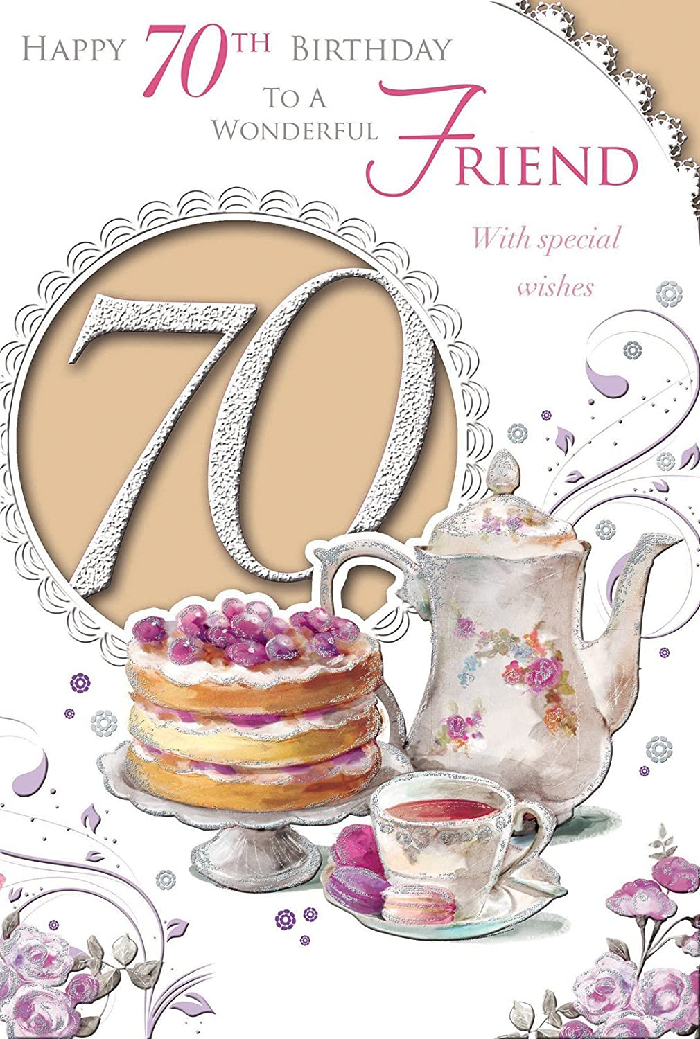 For A Dear Friend On Your 70th Birthday card Amazoncouk Office – 70th Birthday Verses for Cards