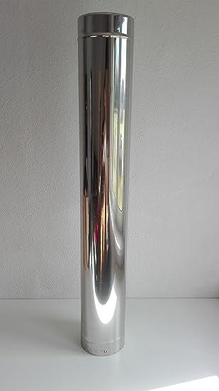 Edelstahl Rohr Abgas Schornstein Einwandig 0,6mm Ofen Kamin 130mm/150mm, 1m  (
