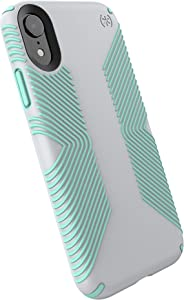 Speck Products Compatible Phone Case for Apple iPhone XR, Presidio Grip Case, Dolphin Grey/Aloe Green