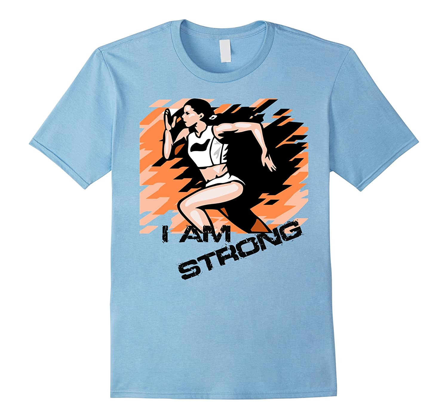 I Am Strong Running Marathon Race T-shirt Men Women Kids-Vaci