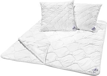Decken-Set 2 Decken 1 Kissen Bettdecke Microfaser 4-Jahreszeiten Betten-Set