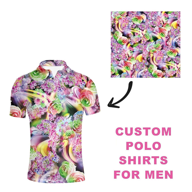 Beach Shirts for Men Novelty Polos Shirts Casual Tee Shirts Hawaiian Floral Shirts Colorful