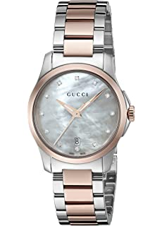 Gucci G-Timeless Quartz Stainless Steel Silver-Toned Womens Watch(Model: