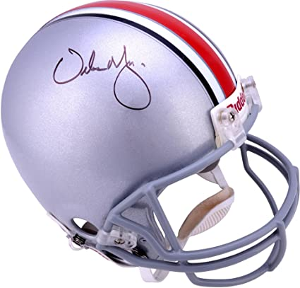 f38be7f3785 Urban Meyer Ohio State Buckeyes Autographed Riddell Pro-Line Authentic  Helmet - Fanatics Authentic Certified