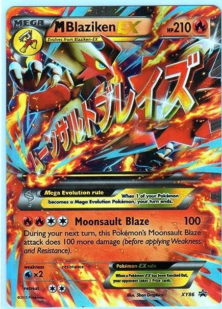 Amazon Com Jumbo Mega M Blaziken Ex Pokemon Card Promo Xy 86
