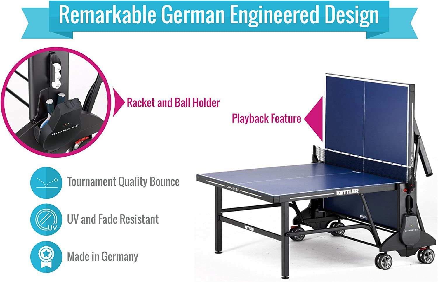 Materials for table tennis legs