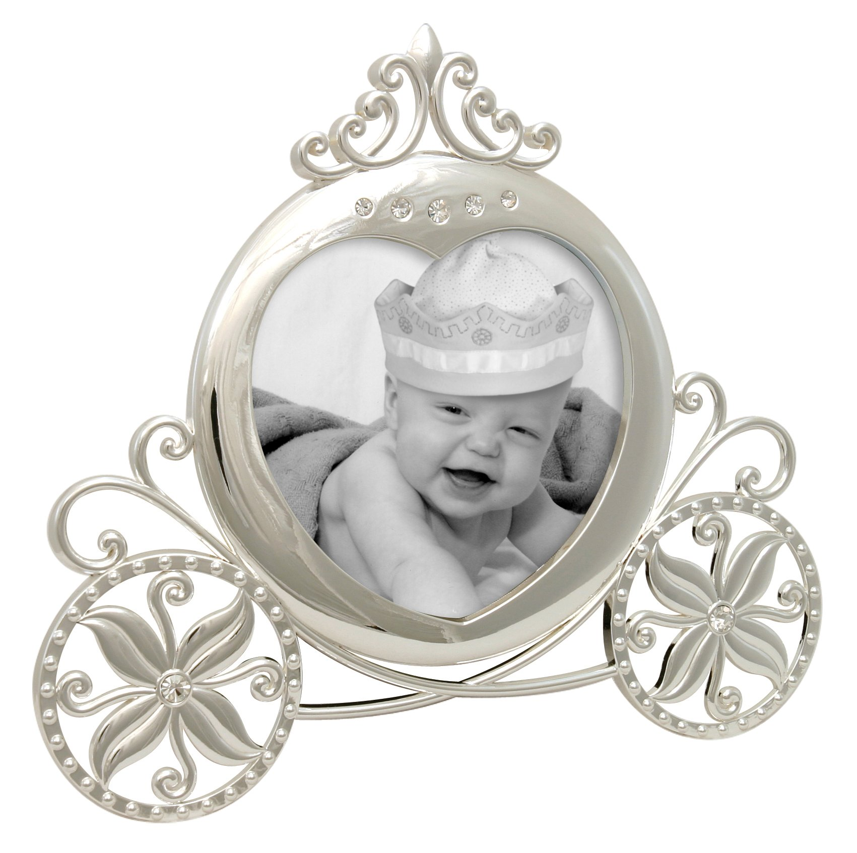 Stephan Baby Royalty Collection Keepsake Silver Plated Frame, Fairy Tale Carriage by Stephan Baby