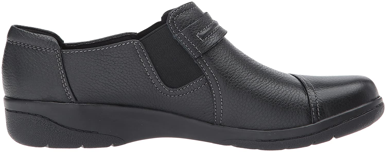 CLARKS Women's Cheyn Madi Loafer B071FSJ3TD 11 2A(N) US|Black Tumbled Leather