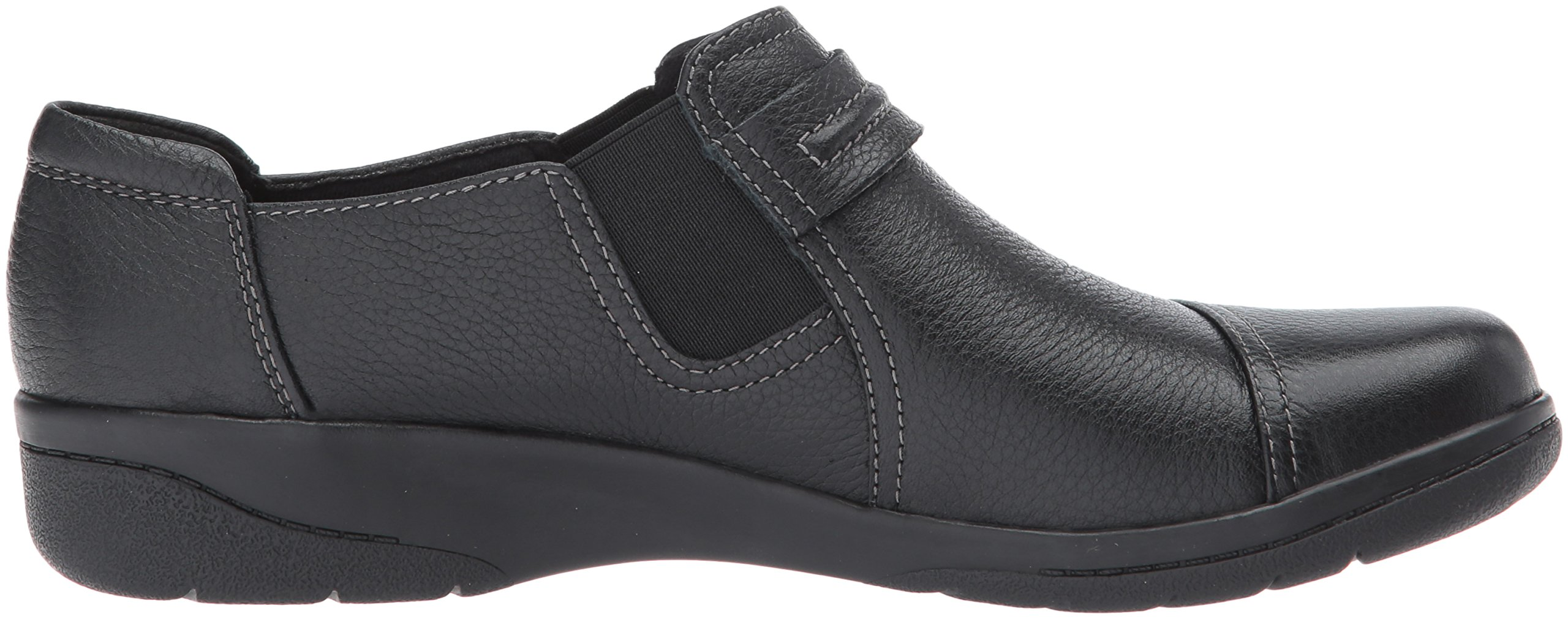 Clarks Women's Cheyn Madi Slip-On Loafer, Black Tumbled Leather, 9.5 W US by CLARKS (Image #7)