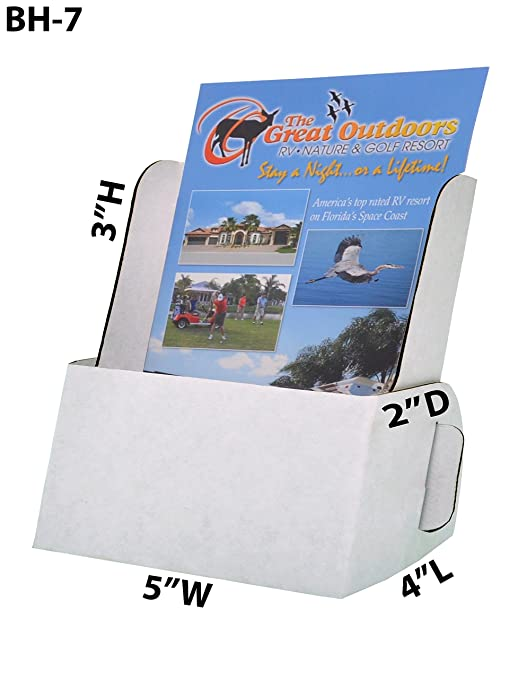 amazon com marketing holders brochure holder holds 5 x 9