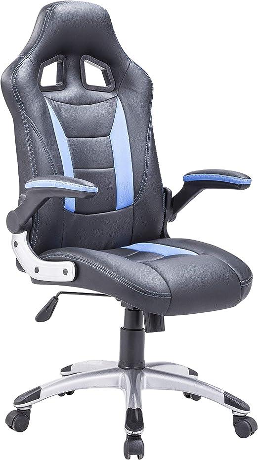 Adec - Silla giratoria Oficina, sillón Escritorio Gaming (Negro y ...