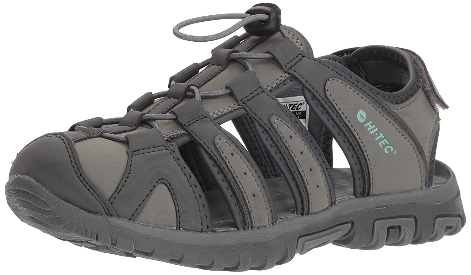 Hi-Tec Women's Cove Ii Shandal Fisherman Sandal B074PX1SXN 110M Medium US|Cool Grey/Graphite/Iceberg Green