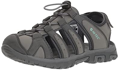 363501bbafa6 Hi-Tec Women s Cove II Shandal Fisherman Sandal Cool Grey Graphite Iceberg  Green