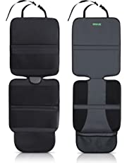 Car Seat Protector (2-Pack) Ultimate Poly Fiber Backing is Best Protection for Child & Baby Cars Seats, Dog Mat - Cover Pad Protects Automotive Vehicle Leather, Cloth Upholstery