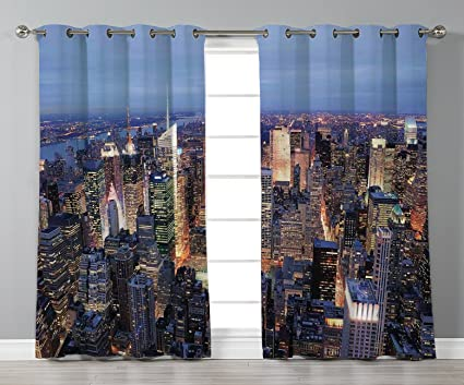 Times Square New York City 3D Blockout Photo Printing Curtain Drap Fabric Window