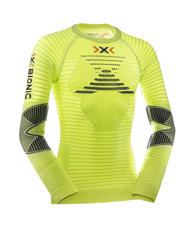 Maglia Uomo L X-Bionic Running Ae Effektor Power Ow Lg/_Sl Verde Lime//Nero