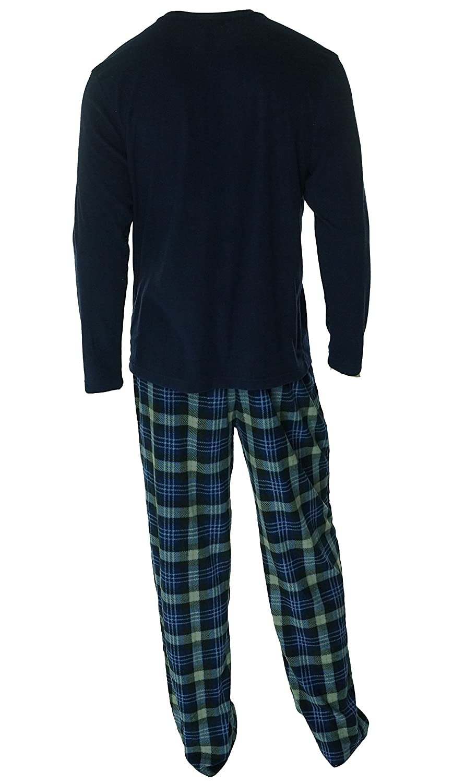 Club Room Mens Fleece Pajama Set S McDonald Navy