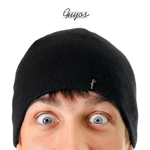 bd9f2505192 Guyos Beanie for Women and Men Unisex Cuffed Plain Skull Toboggan Warm  Double Layer Knit Hat