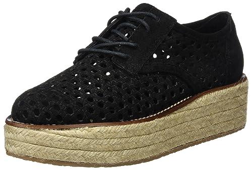 MUSSE & Cloud Chloe, Zapatos de Cordones Derby para Mujer, Negro (Black), 37 EU