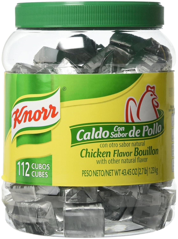 B07BBW89DJ Knorr Chicken Flavor Bouillon Cubes, 43.45 Ounce 81C5xGMvr8L