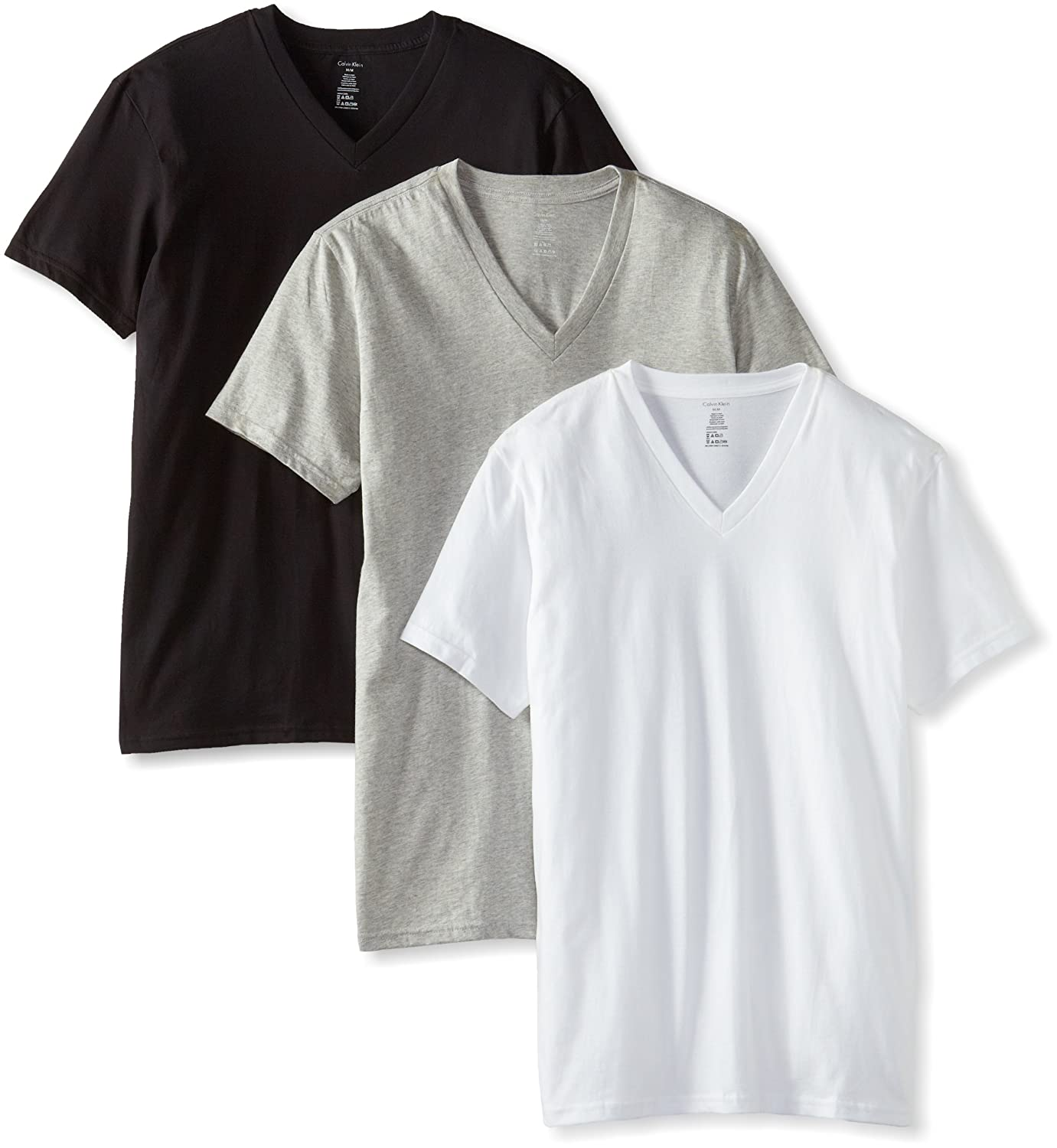 Amazon.com: Calvin Klein Men's 3-Pack Classic V-Neck T-Shirt: Clothing