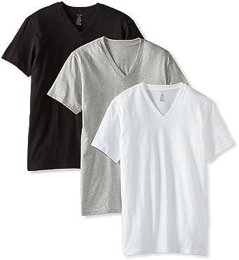 2981cdda1261 Calvin Klein Men s 3-Pack Classic V-Neck T-Shirt - Multi -  Amazon ...