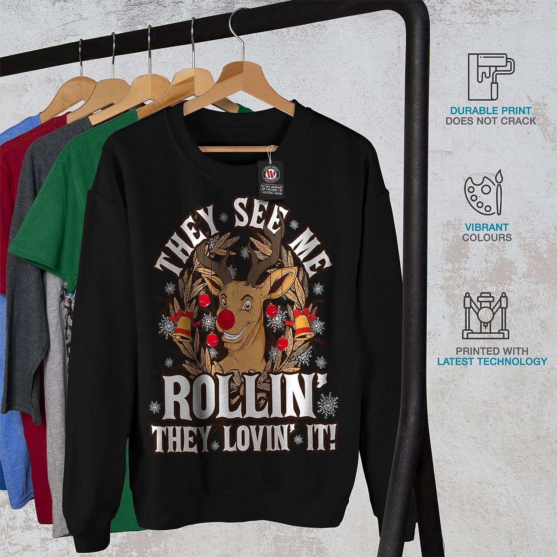 wellcoda They See Rollin Christmas Mens Sweatshirt Casual Jumper