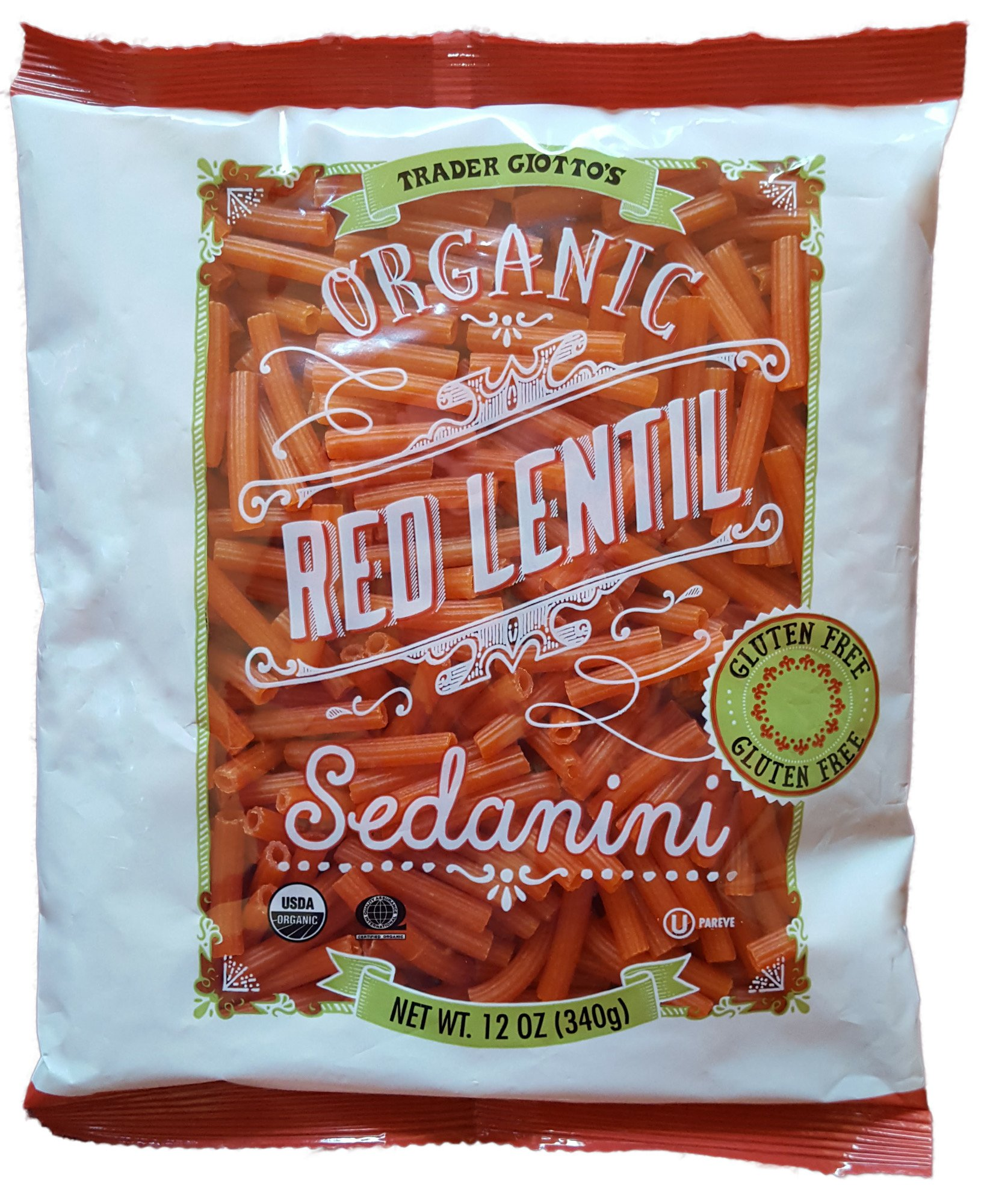 Trader Joes Organic Red Lentil Sedanini, 12 ounces