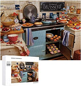 Jigsaw Puzzle 500 Piece- Home Cooking,Every Piece is Unique, Softclick Technology Means Pieces Fit Together Perfectly