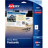 "Avery Ink Jet Glossy Photo Quality Post Cards, 4-1/4"" x 5-1/2"", 100 per Pack (8383)"