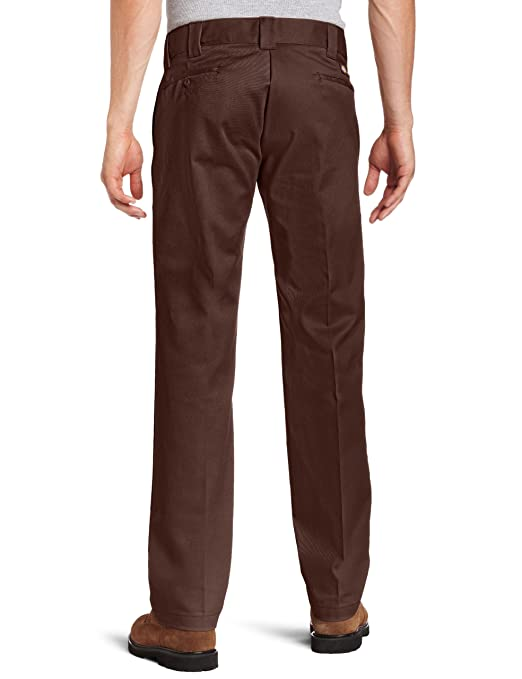 Dickies Mens Rigid Slim Straight Fit Pant, Chocolate Brown, 29x30