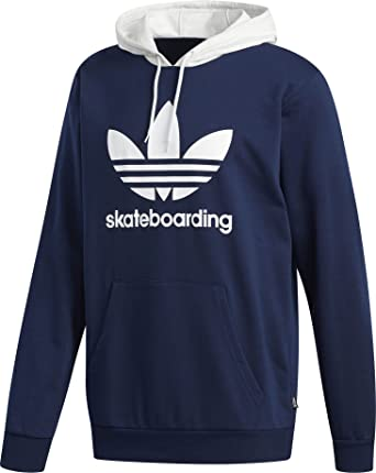 d1b46fb52dc Image Unavailable. Image not available for. Color: adidas Skateboarding  Men's Clima 3.0 Hoodie Collegiate Navy/Pale Melange/White ...