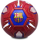 Barcelona Fc Unisex's Hex Football-Red/Navy, Size 1