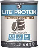 Designer Protein LITE, Low Calorie Natural Protein, Chocolate Cookies and Cream, 9.03 Ounce