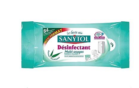 Sanytol Set de 84 toallitas desinfectantes multiusos (eucalipto Maxi – – Juego ...