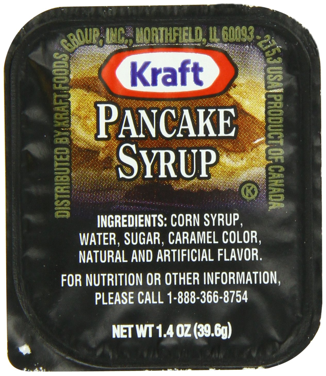 amazon com kraft maple pancake syrup 1 4 ounce cups pack of