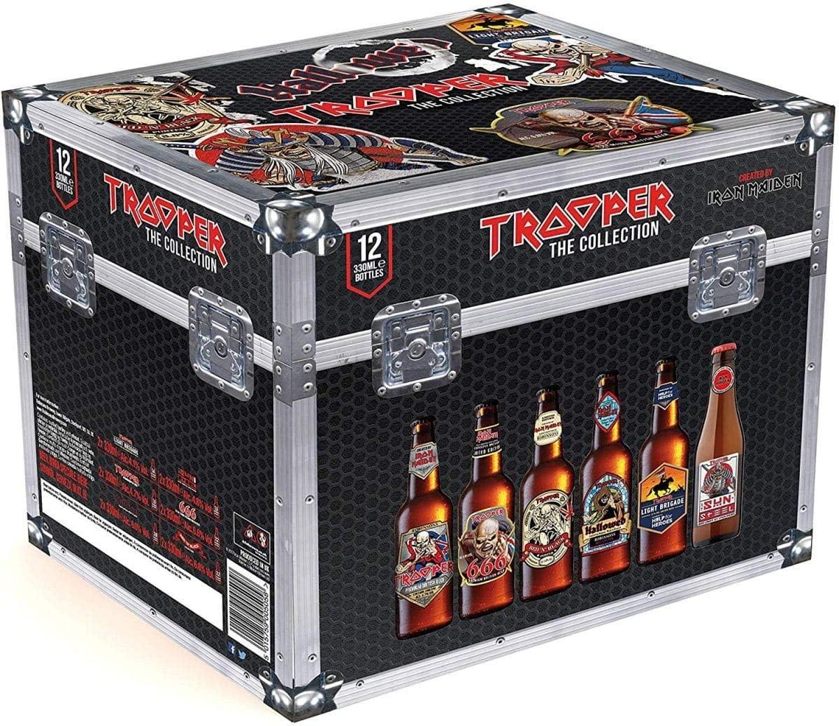 Cofre Iron Maiden Trooper The Collection Cerveza - 12 botellas x 330 ml