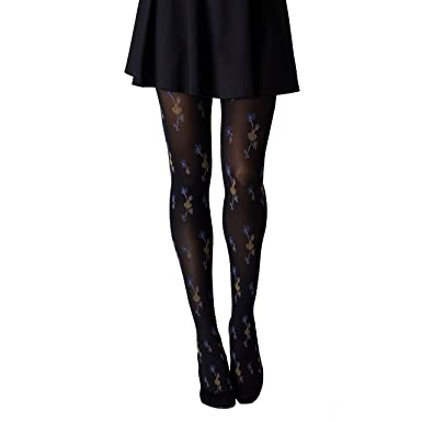 95da82ef891be Gipsy Oriental Flower Tights - ONE SIZE, BLACK/MULTI: Amazon.co.uk: Clothing