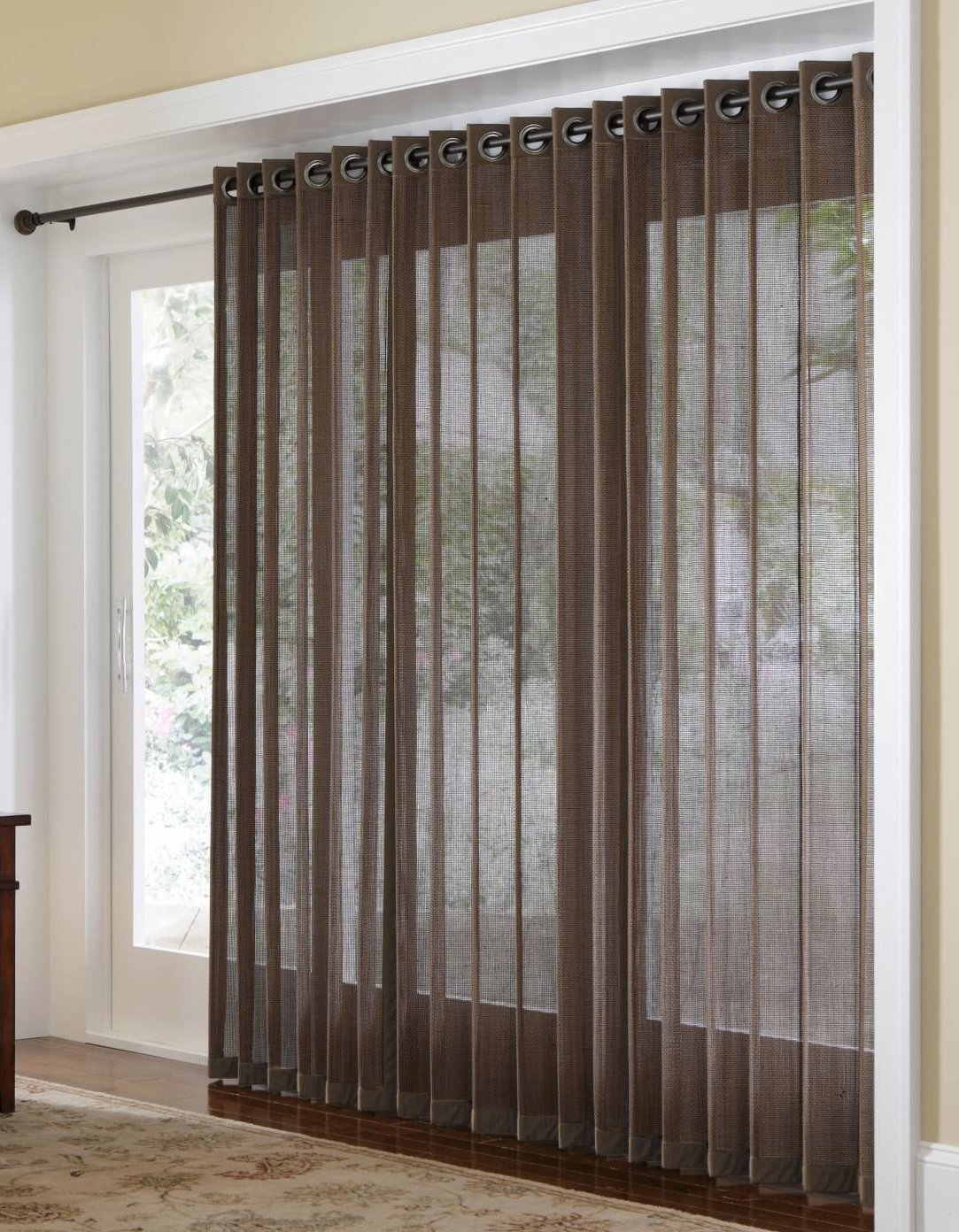 Naple Bamboo Grommet Top Panels for Sliding Glass Doors and Large Windows