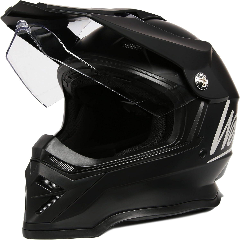 Westt Cross Motocross Helm Integralhelm Motorradhelm Roller Matt Schwarz Ece Zertifiziert Sport Freizeit