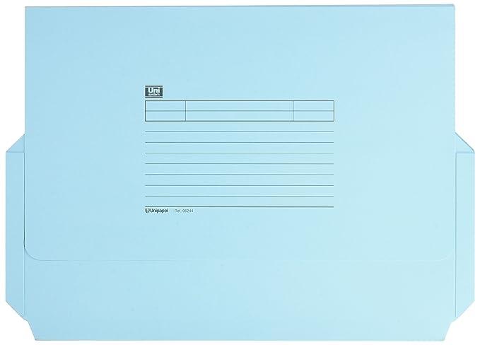 Unipapel 96244L - Pack de 6 subcarpetas con bolsa fuelle, color azul: Amazon.es: Oficina y papelería