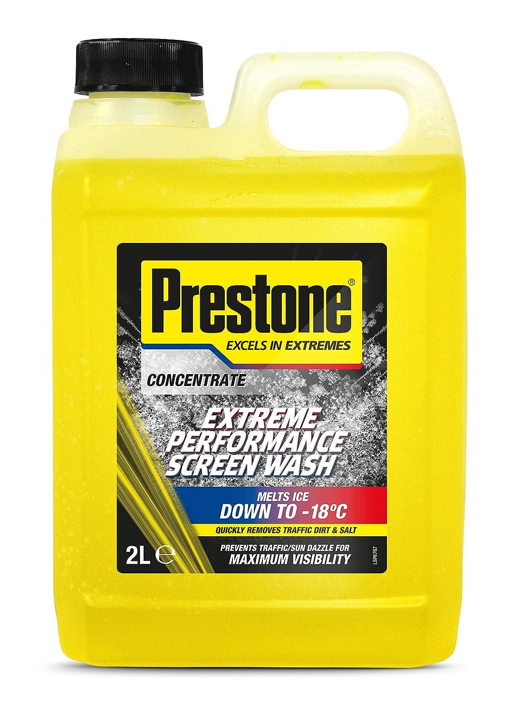 Líquido Prestone limpiaparabrisas modelo PRE-SW2. Funciona hasta -23 °C. Dos bidones de 2L: Amazon.es: Coche y moto