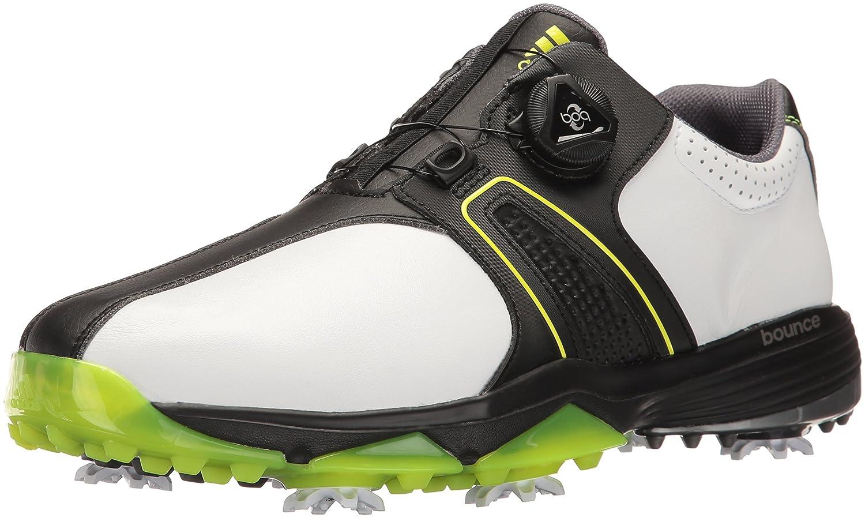 adidas Golf メンズ 360 TRAXION BOA WD B01MUHH3P2 8 Wide US|Ftwr White/Core Black/Solar Yellow Ftwr White/Core Black/Solar Yellow 8 Wide US