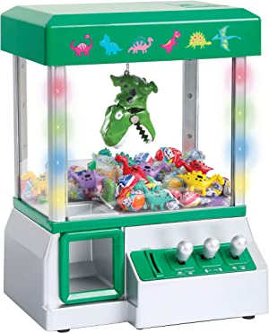 The Claw Toy Grabber Machine with Flashing lights & Sounds and Animal Plush - Features Electronic Claw Toy Grabber Machine, Animation, 4 Animal Plush & Authentic Arcade Sounds Exciting Play (Green)