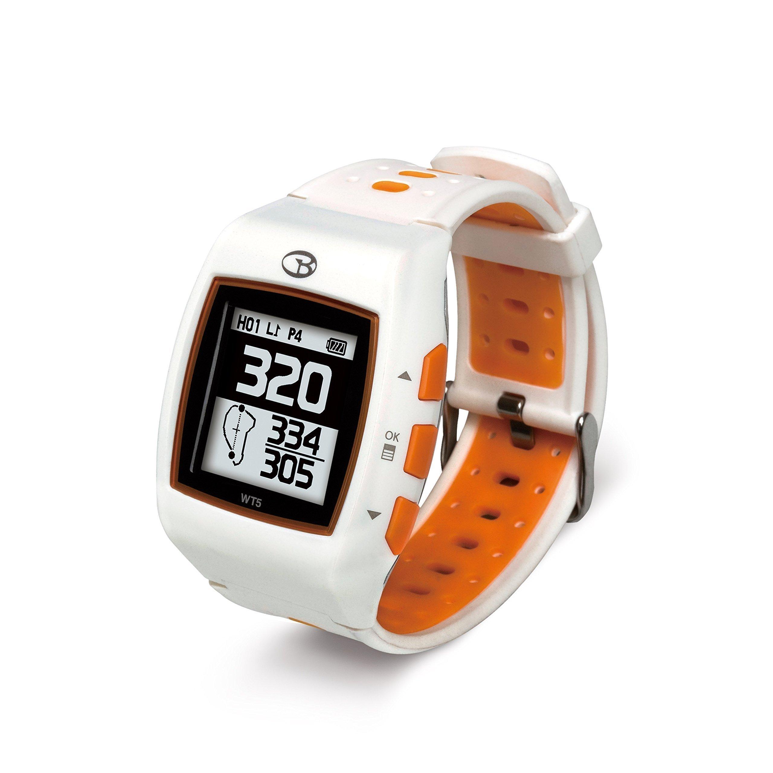 GolfBuddy WT5 Golf GPS Watch, White/Orange