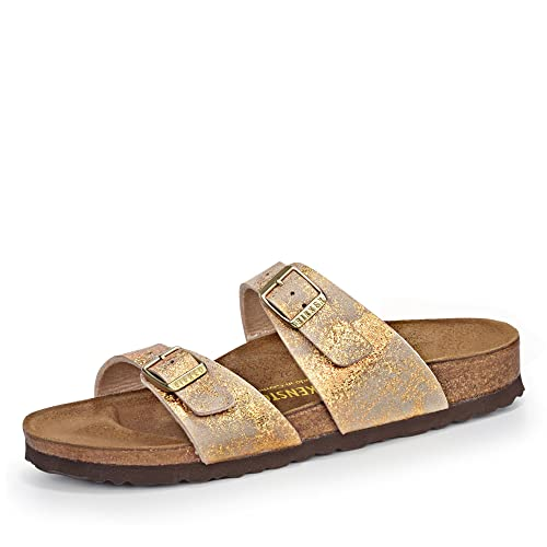 reputable site 15cfb bafa6 Birkenstock Sydney (Narrow Fit) 488743 Stardust Gold (See ...