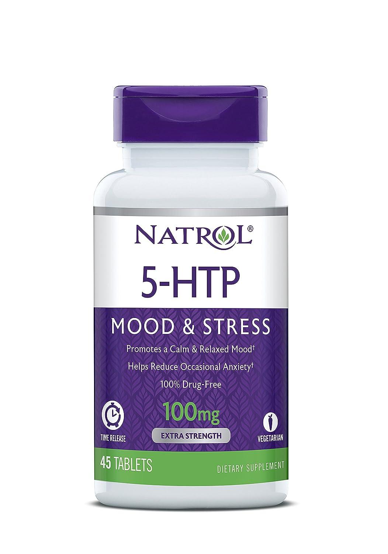 Natrol 5-HTP 100mg Time Release Standard - 45 Cápsulas: Amazon.es: Salud y cuidado personal