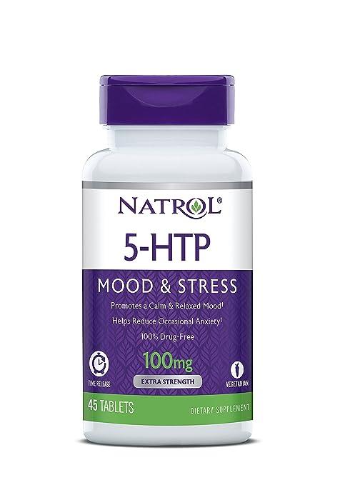 Natrol 5-HTP 100mg Time Release Standard - 45 Cápsulas: Amazon.es ...