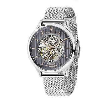 Maserati Reloj Analógico para Hombre de Automático con Correa en Acero Inoxidable R8823136004: Amazon.es: Relojes