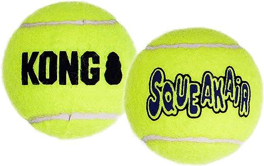 KONG - Squeakair Balls - Pelotas de Tenis sonoras Que respetan Sus Dientes - para Perros de Raza Grande (Pack de 2): Amazon.es: Productos para mascotas